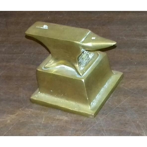 119 - Small brass jewellers anvil...