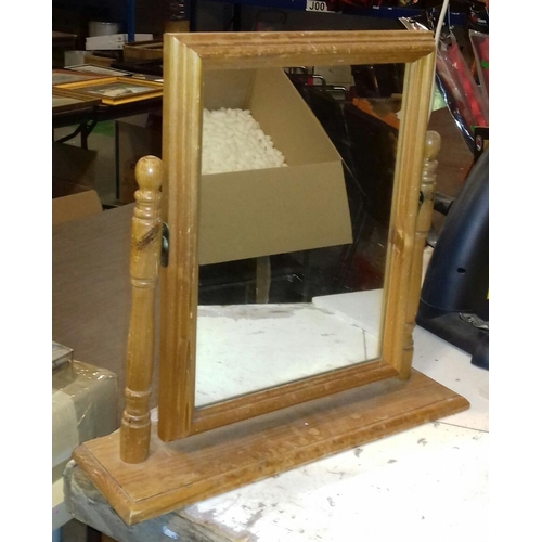 501 - Pine dressing table freestanding vanity mirror...