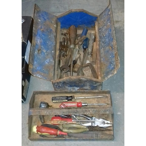 259 - Metal tool box and contents...