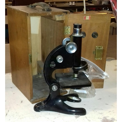 230 - Beck of London vintage microscope in wooden case...