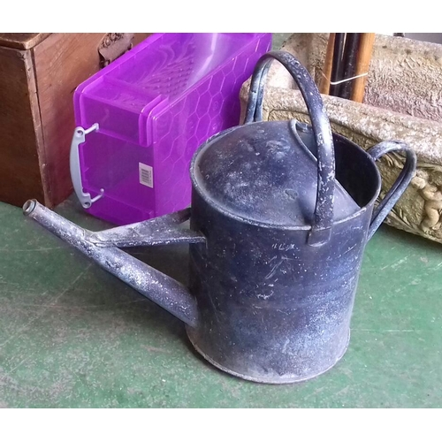 2 - Vintage Beldray 2 gallon galvanised watering can...
