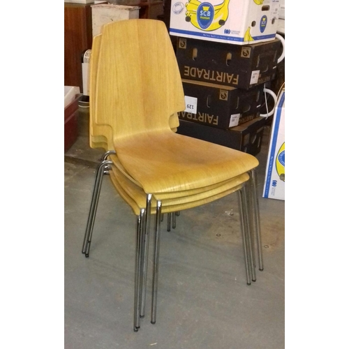 419 - Set of 4 IKEA Vilmar stacking chairs...