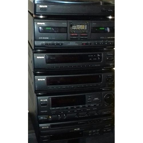 489 - Aiwa stacking stereo system with speakers in working order...