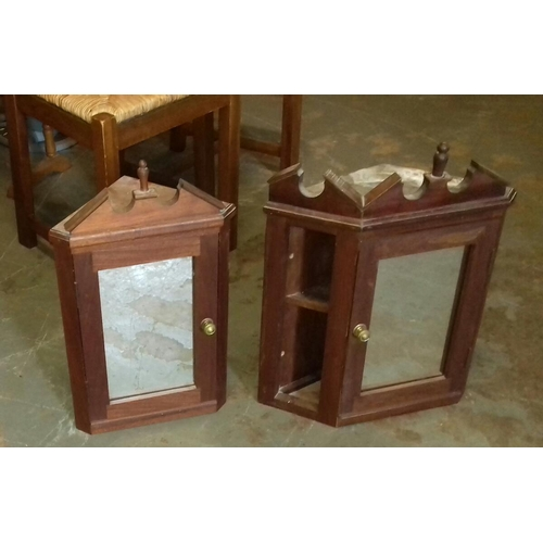 429 - 2 x wall mount small mirrored cabinets...