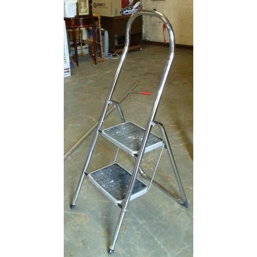 215 - Two step tubular step ladder...