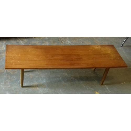 463 - 122 x 38 x 34 cm retro low teak coffee table...