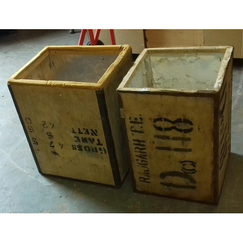 468 - Pair of vintage tea chests...