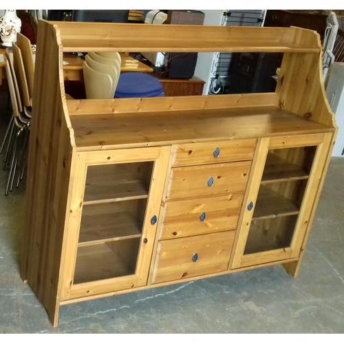 414 - 141 x 42 x 124 cm IKEA Leksvik pine 4 drawer sideboard...