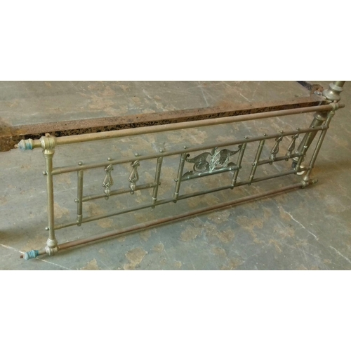 443 - Victorian brass heavy four poster style bed  base...