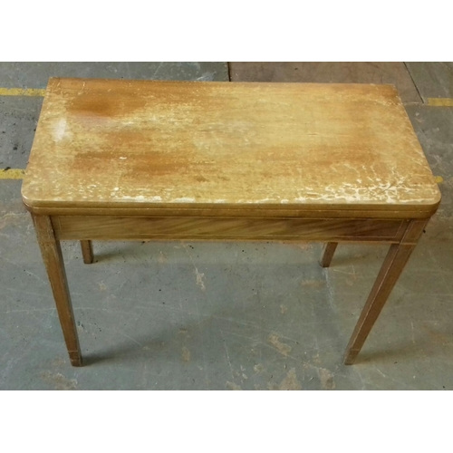 430 - 90 x 44 x 75 cm mahogany folding tea table...