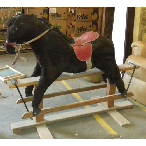 190 - Large vintage Pegasus rocking horse...