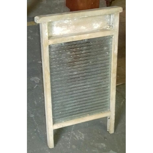 95 - Vintage glass wash board...