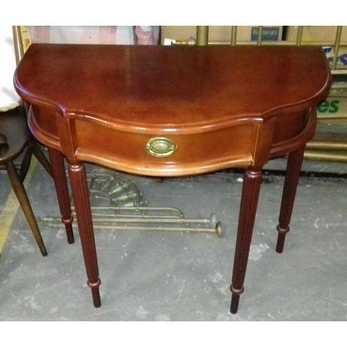 444 - 80 x 40 x 76 cm single drawer Half Moon hall table...