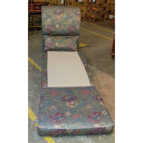 420 - Rest assured floral-print guest bed chair...