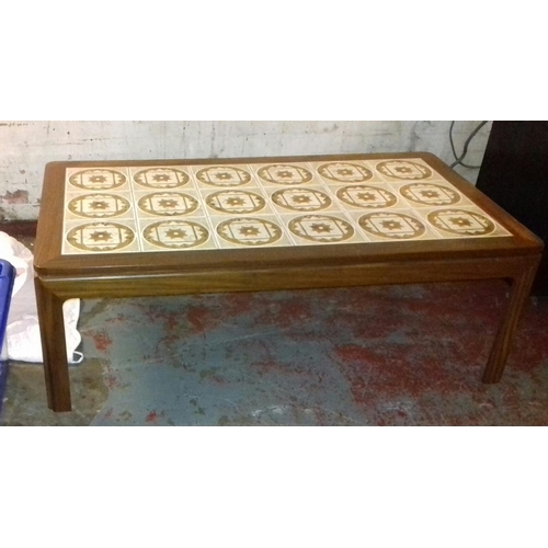 507 - 135 x 74 cm G Plan tiled top coffee table...