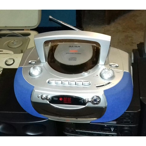 396 - Alba portable CD radio cassette player...
