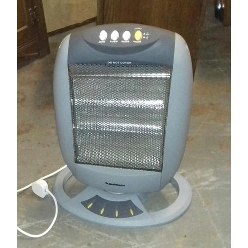 469 - Supawarm 1200 wt oscillating halogen heater...