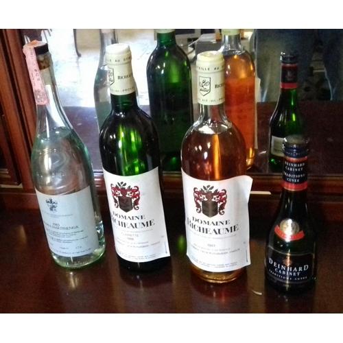 114 - 4 x assorted unopened bottles of wine...