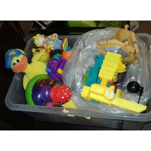 238 - Box of assorted baby activity toys...