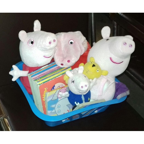 373 - Small Peppa Pig bundle to include toys and books...