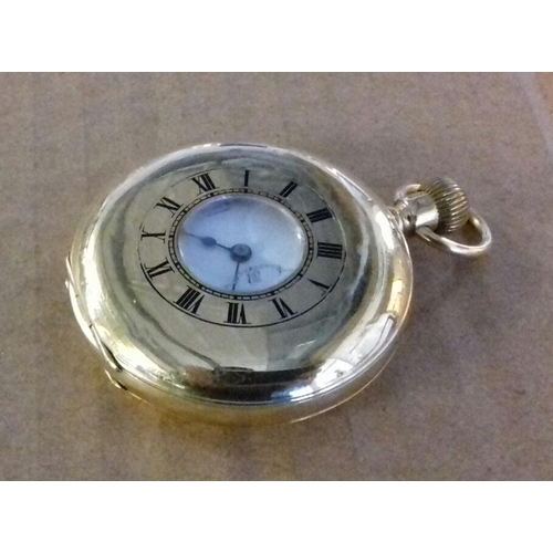 564 - Thomas Russell and Son Liverpool 18 carat gold pocket watch in good working order, monogrammed on ba...