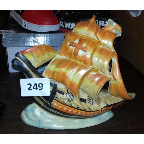 249 - 18 cm tall Arthur Woods HMS Nelson ceramic ornament...