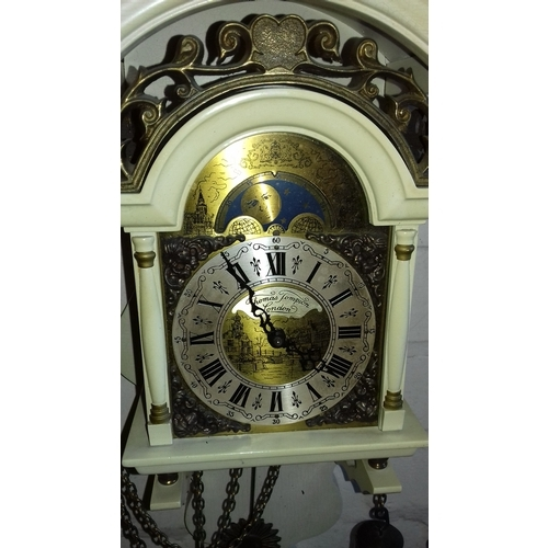 25 - Thomas Tompion London weight driven wall clock with FHS german movement, working order...