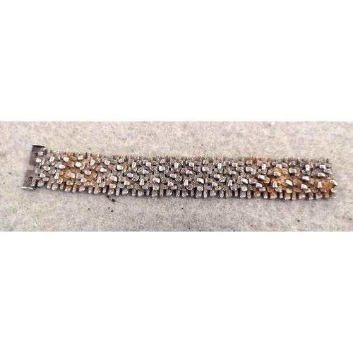 37 - Hallmarked heavy silver bracelet...