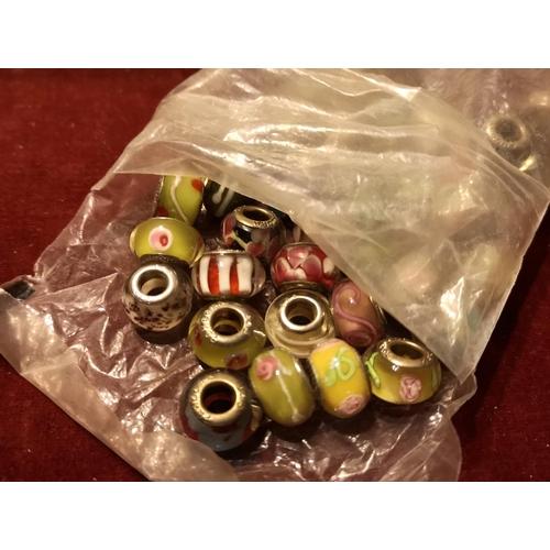 14 - Bundle of Pandora style beads...