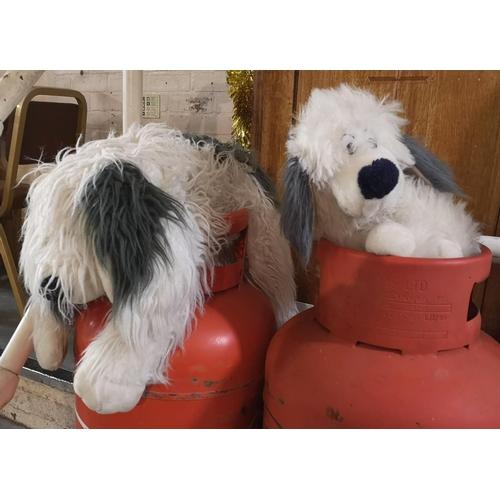 33 - 1 x large and 1 x medium old English Sheepdog soft toys...