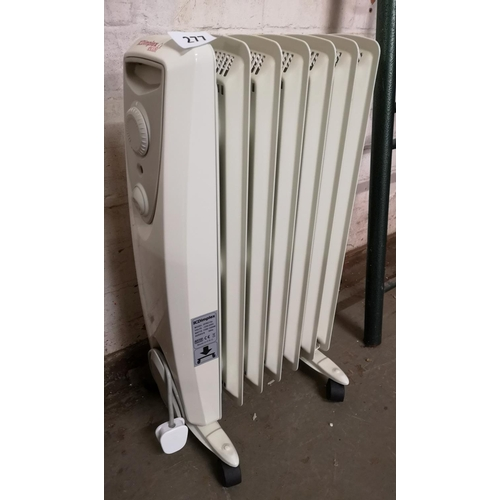 277 - Dimplex 1500w portable oil-filled radiator...
