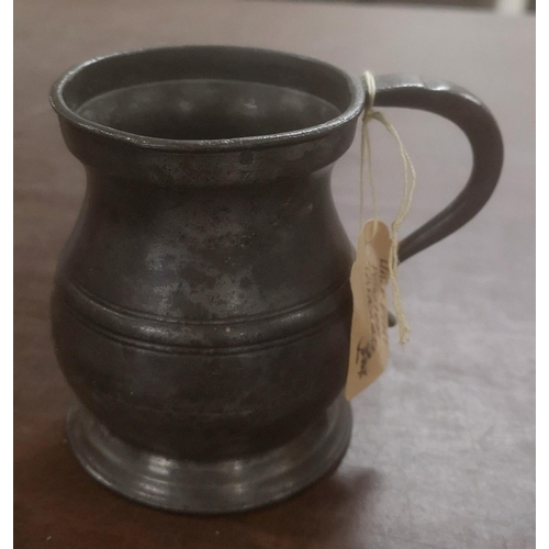 20 - Victorian 1/2 pint pewter tankard...