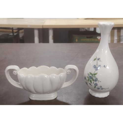 18 - Coalport single stem vase & wade urn shaped posy vase...
