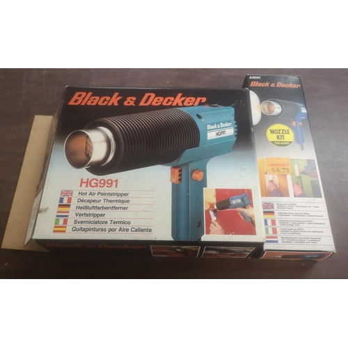 36 - Boxed Black and Decker HG991 electric paint stripper and boxed nozzle kit...