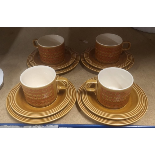 35 - 4 place setting Hornsea Saffron 12 piece tea set...