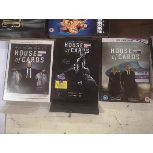 45 - House of Cards complete seasons 1/2/3 DVD sets...
