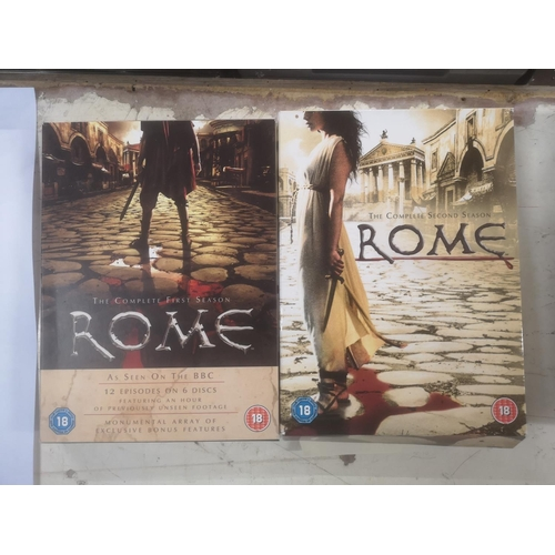 55 - Rome complete first and second season DVD sets...