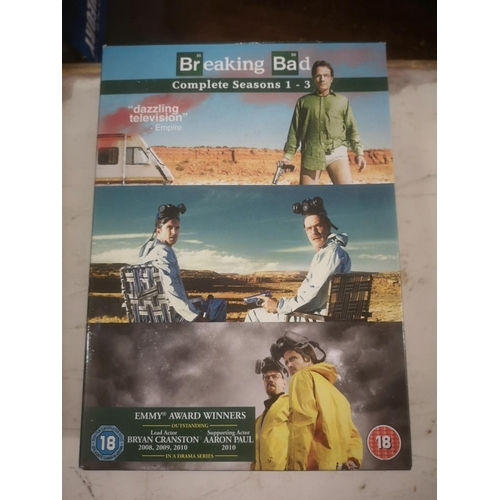 56 - Breaking Bad complete seasons 1/2/3 DVD sets...