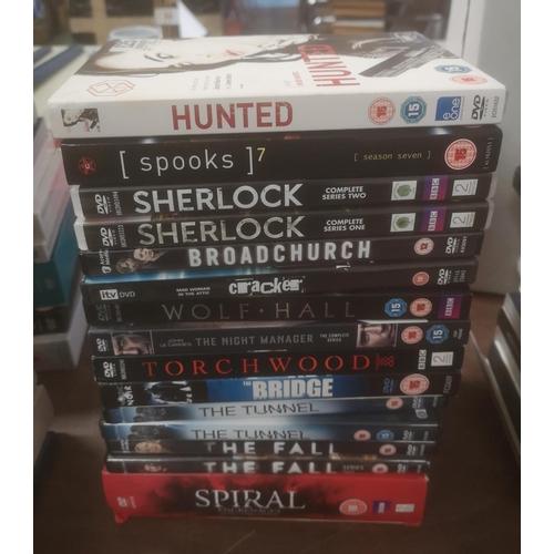 21 - BBC DVD bundle to include Spooks, Sherlock, Cracker, Torchwood, The Tunnel & Spiral etc...