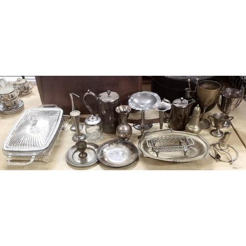 49 - Job lot of assorted silver plated miscellaneous...