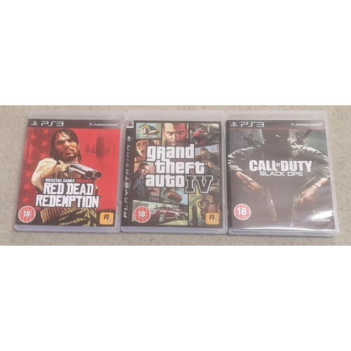 29 - Bundle of 3 x Playstation 3 games being GTA 4, Red DEad Redemption & Call Of Duty black ops...