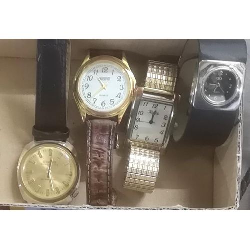 33 - 4 x assorted wrist watches and 3 x cowboys Bolo neck ties...