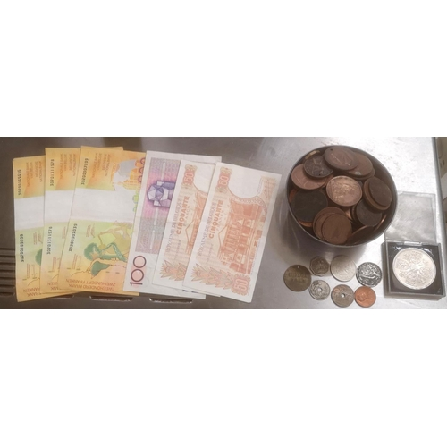 27 - Large amount of mainly Victorian penny coins, small amount of international coins & vintage Belgian ...