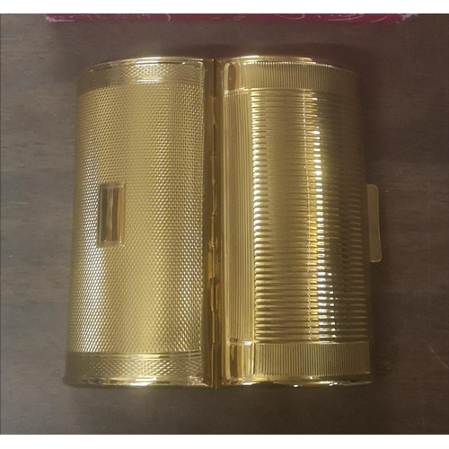 33 - 1940/50's unused Kigu gold tone lipstick case in original box...