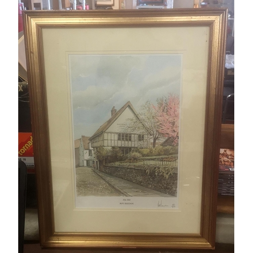 9 - 44 x 57 cm gilt framed and mounted RAY HAYDON print titled 'Elm Hill'. Limited edition number 18/850...