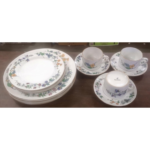 32 - 3 place setting 12 piece Woodhill Indonesia ceramic dinner set...