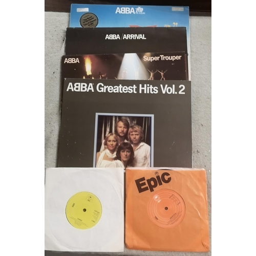 50 - Bundle of Abba vinyl albums and singles...