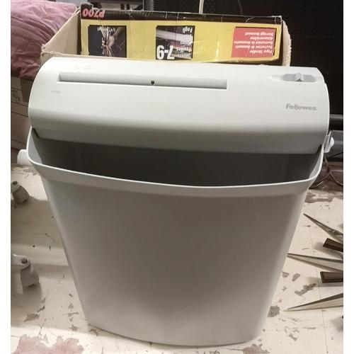 16 - Boxed Fellowes P700 large office paper shredder...