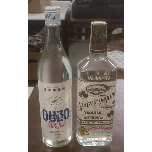 24 - 2 x unopened bottles of spirits being Tequila & Ouzo...