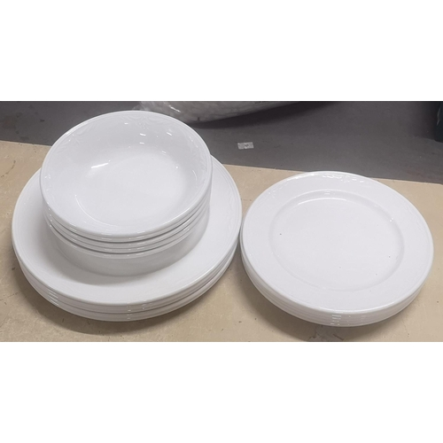 45 - 15 piece, 5 place setting, Royal Doulton hotel porcelain dinner set...